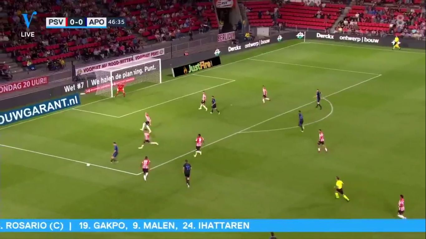 22-08-2019 - PSV Eindhoven 3-0 Apollon Limassol (EUROPA LEAGUE QUALIF.)