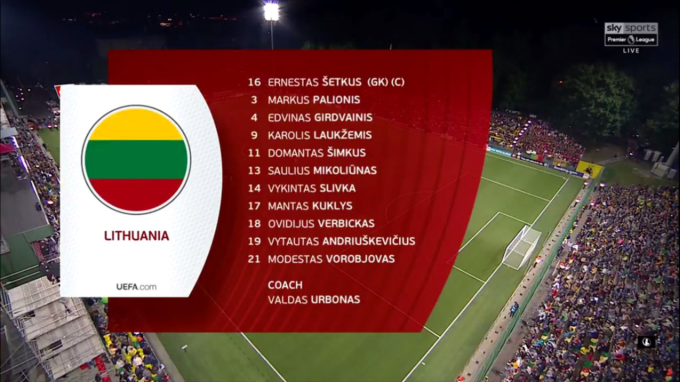 10-09-2019 - Lithuania 1-5 Portugal (EURO QUALIF.)