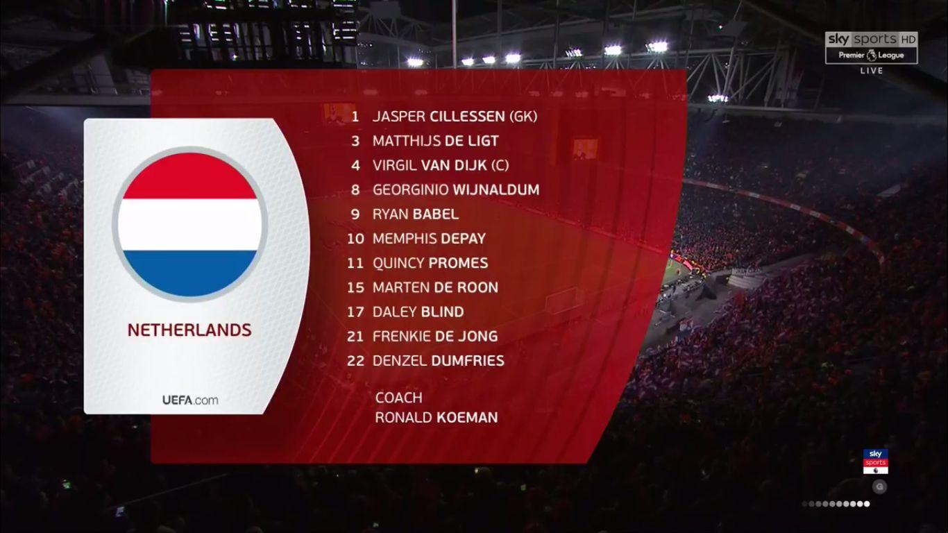24-03-2019 - Netherlands 2-3 Germany (EURO QUALIF.)