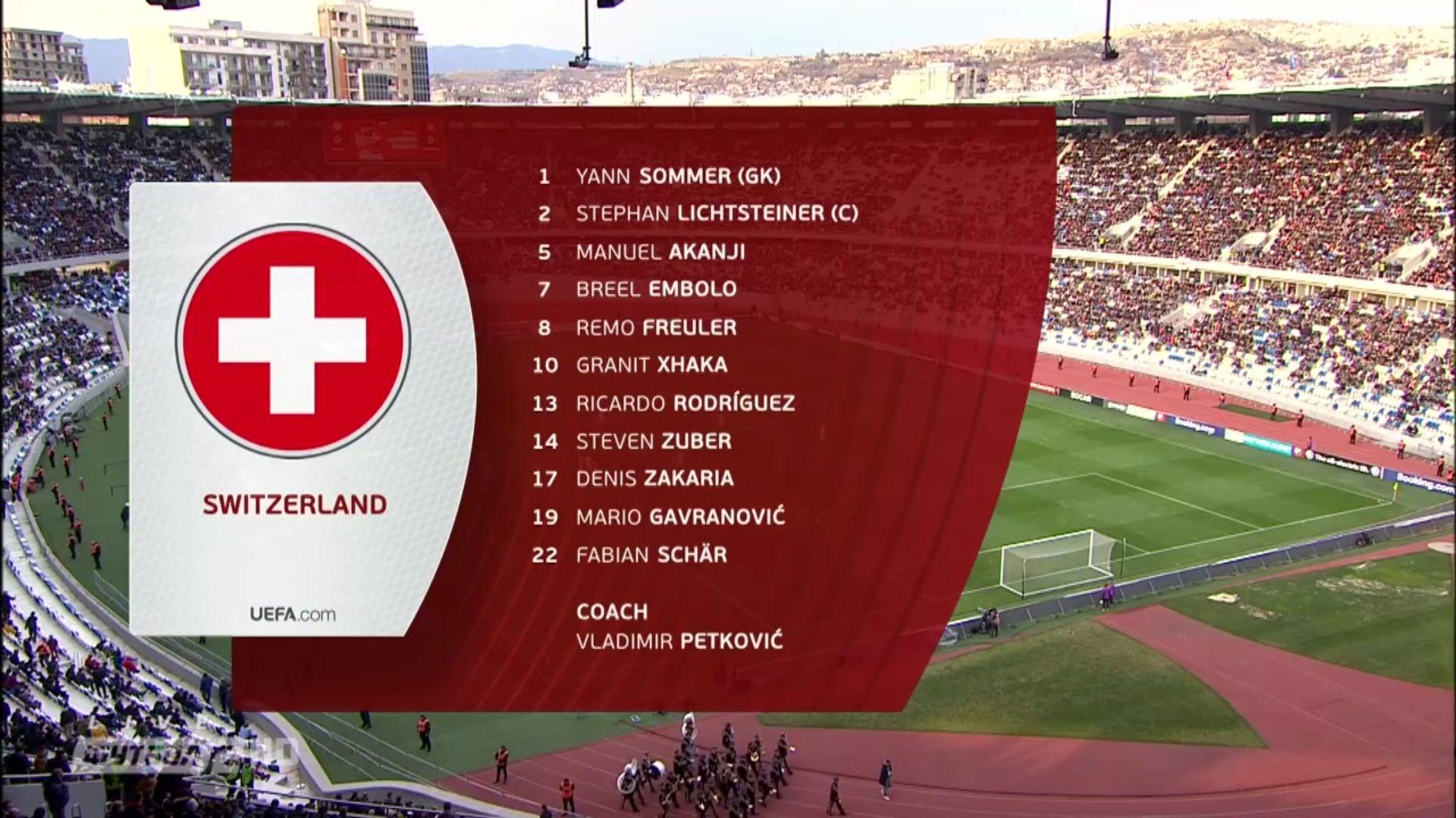 23-03-2019 - Georgia 0-2 Switzerland (EURO QUALIF.)