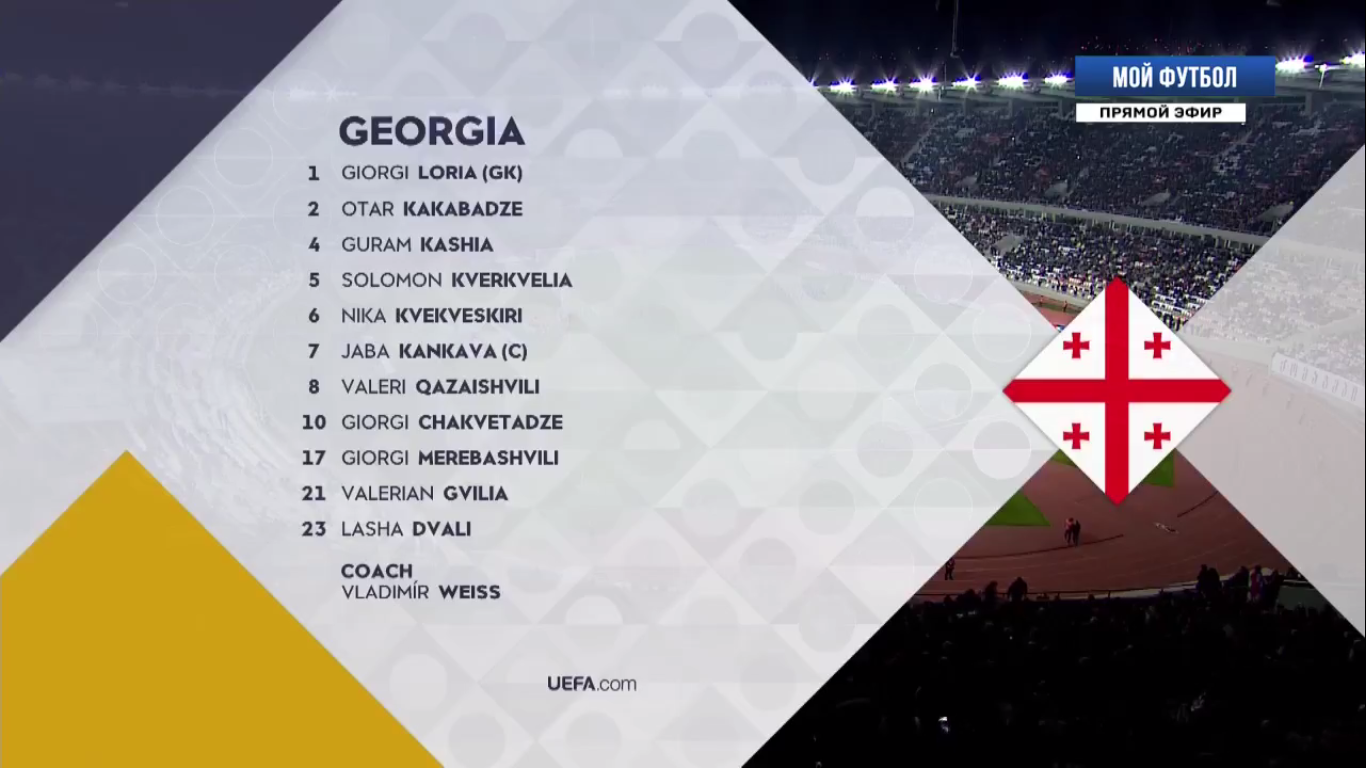 19-11-2018 - Georgia 2-1 Kazakhstan (UEFA NATIONS LEAGUE)