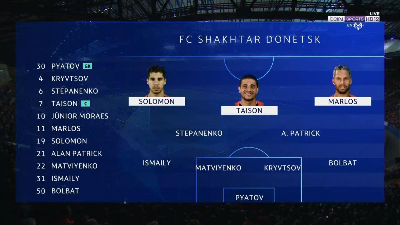 18-09-2019 - Shakhtar Donetsk 0-3 Manchester City (CHAMPIONS LEAGUE)