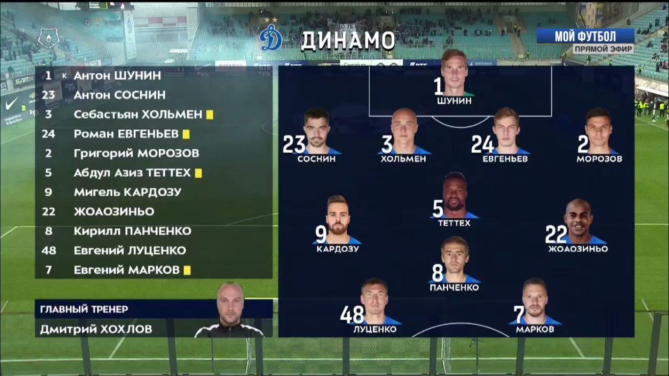 24-11-2018 - FC Dinamo Moscow 1-2 Yenisey Krasnoyarsk