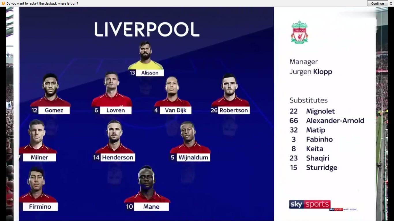 09-08-2019 - Liverpool 4-1 Norwich City
