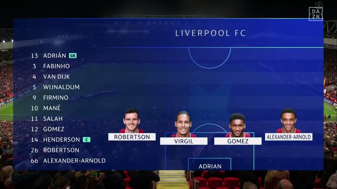 02-10-2019 - Liverpool 4-3 Salzburg (CHAMPIONS LEAGUE)