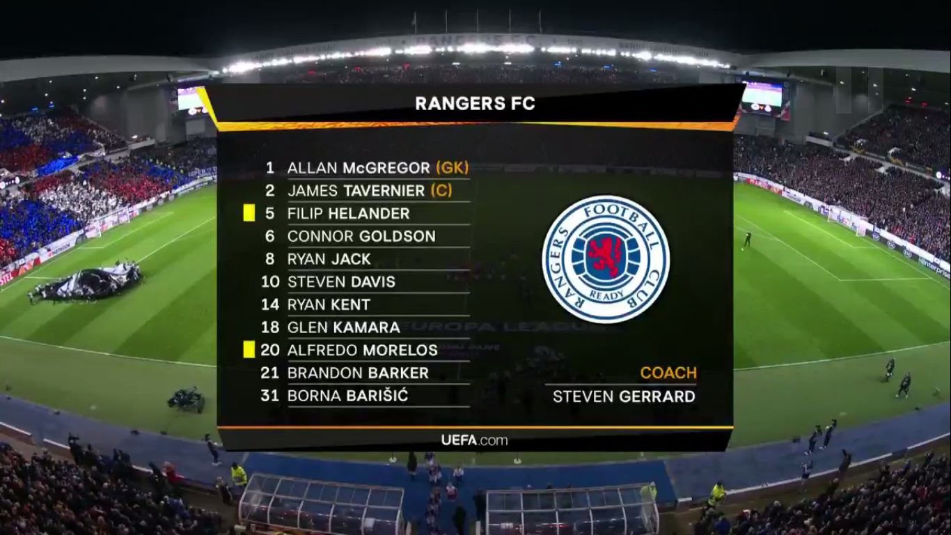 07-11-2019 - Rangers 2-0 FC Porto (EUROPA LEAGUE)