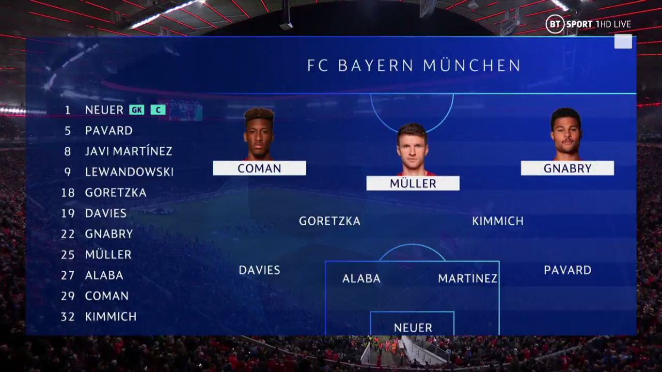 06-11-2019 - FC Bayern Munchen 2-0 Olympiacos (CHAMPIONS LEAGUE)