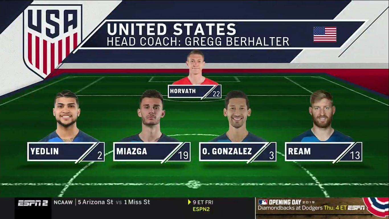 27-03-2019 - USA 1-1 Chile (FRIENDLY)