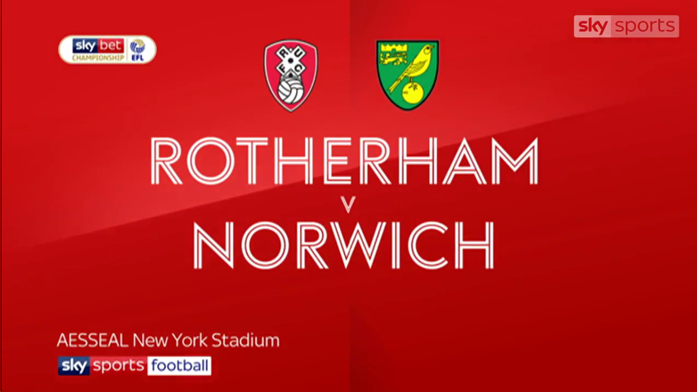 16-03-2019 - Rotherham United 1-2 Norwich City (CHAMPIONSHIP)
