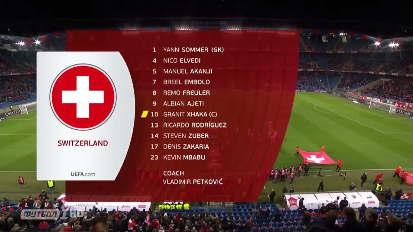 26-03-2019 - Switzerland 3-3 Denmark (EURO QUALIF.)