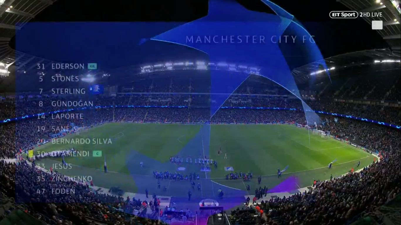 12-12-2018 - Manchester City 2-1 Hoffenheim (CHAMPIONS LEAGUE)