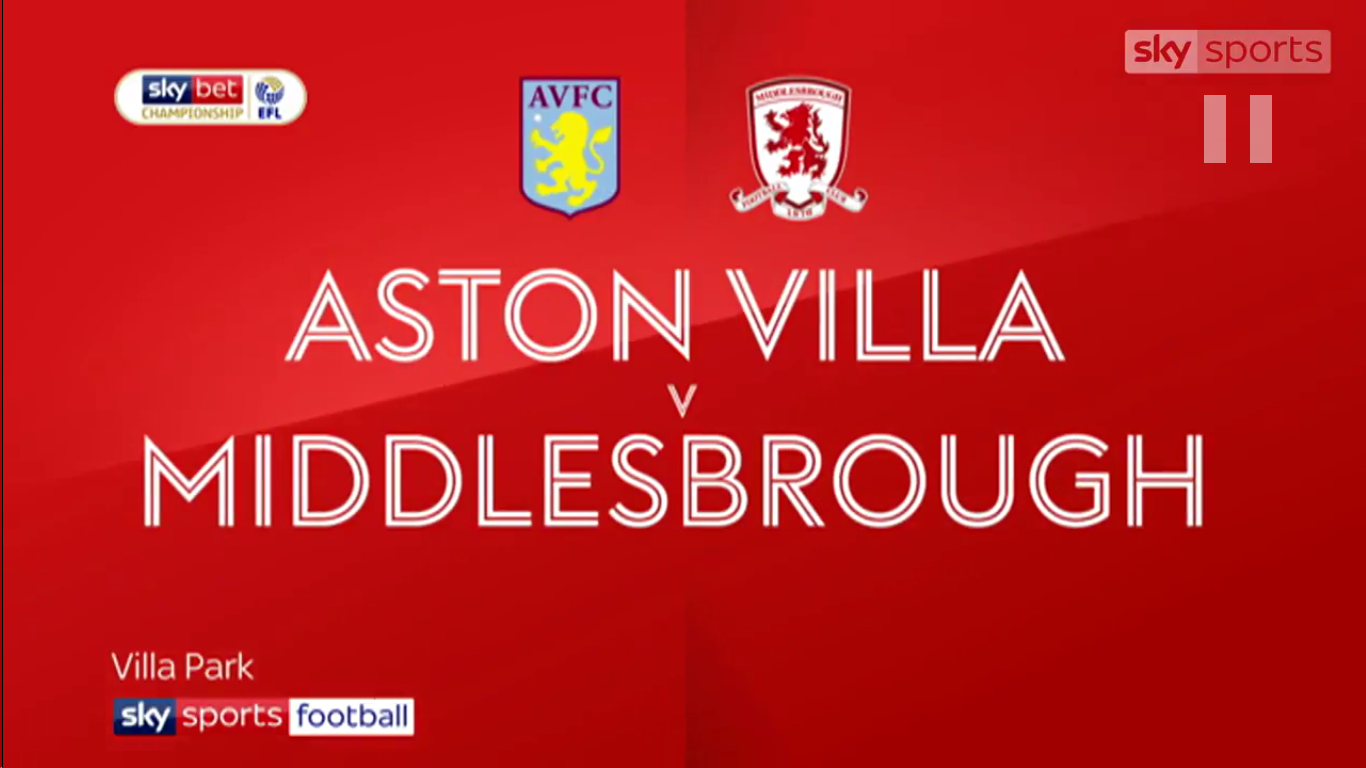 16-03-2019 - Aston Villa 3-0 Middlesbrough (CHAMPIONSHIP)